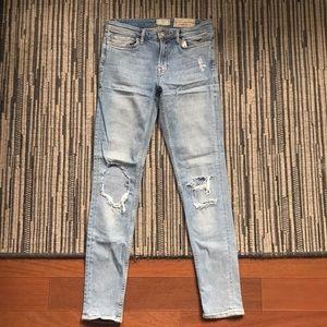 All Saints Mast Low Rise Skinny Fit Jeans Sz 27